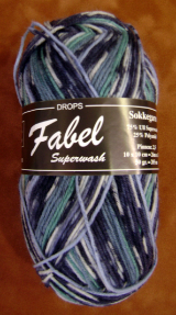 GARNSTUDIO FABEL 50-gm SOCK YARN Blues