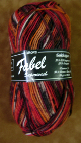 GARNSTUDIO FABEL 50-gm SOCK YARN Red/Orange/Copper