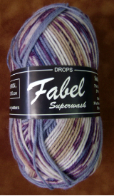 GARNSTUDIO FABEL 50-gm SOCK YARN Amethyst/Gray/Lilac