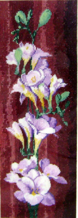 Flowers FREESIAS Counted Cross Stitch Chart