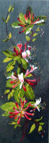 Flowers HONEYSUCKLE Counted Cross Stitch Chart