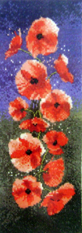 Flowers POPPIES Counted Cross Stitch Chart