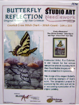 Sue Coleman BUTTERFLY REFLECTION Counted Cross Stitch Chart