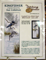 Sue Coleman KINGFISHER Counted Cross Stitch Chart