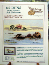 Sue Coleman URCHINS (OTTER) Counted Cross Stitch Chart