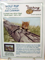 Sue Coleman WOLF PUP Counted Cross Stitch Chart