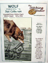 Sue Coleman WOLF Counted Cross Stitch Chart