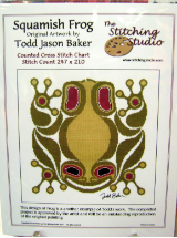 Todd Jason Baker SQUAMISH FROG Counted Cross Stitch Chart