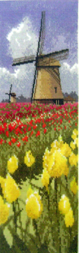 International TULIP FIELDS Counted Cross Stitch Chart