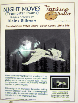 Blaine Billman NIGHT MOVES Counted Cross Stitch Chart