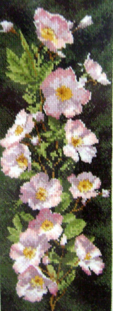 Flowers DOGWOOD ROSE Counted Cross Stitch Chart