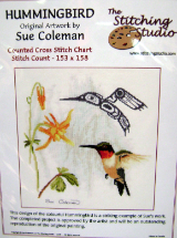 Sue Coleman HUMMINGBIRD Counted Cross Stitch Chart