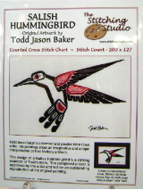 Todd Jason Baker SALISH HUMMINGBIRD Counted Cross Stitch Chart